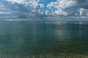 Blick von unserem Platz aufs Ionische Meer