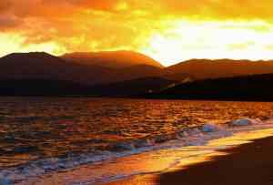 Sonnenuntergang  Gythio Bay