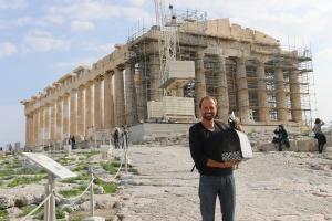mit Erwin an der Akropolis