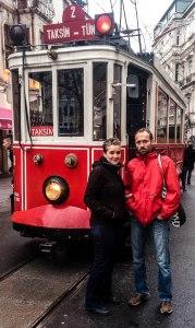 altes Tram beim Taksim Platz