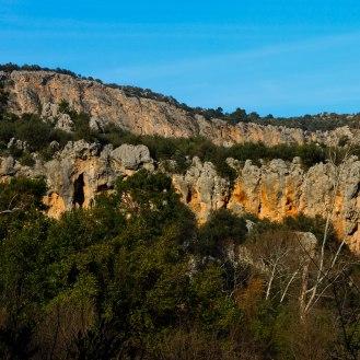 Blick auf die Kletterfelsen von Geyikbayiri