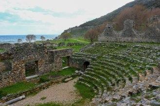 Odeon von Anemurion mit Blick zum Kap Anamur