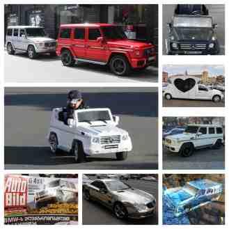Armenier lieben Mercedes Benz, besonders die G-Klasse