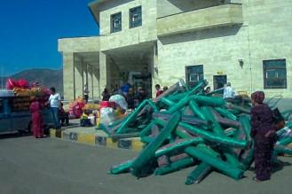 iranische Teppiche an der turkmenischen Grenze