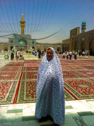 Schleiereule in Mashhad Shrine Imam Reza