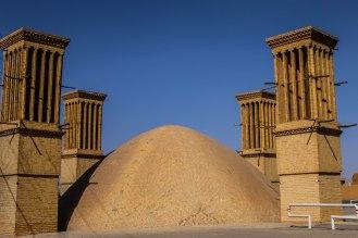 Yazd Wasserspeicher mit Windtürmen