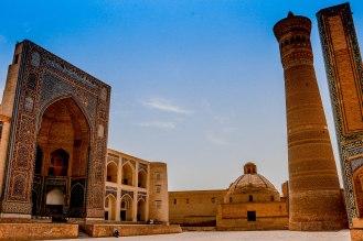 Minarett und Mir-i-Arab Medressa