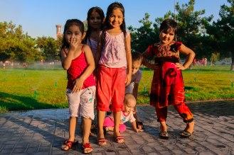 usbekische Mädchen