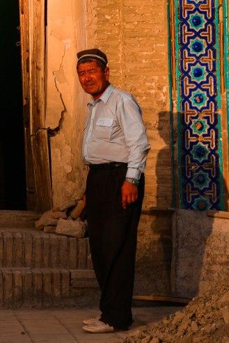 Usbeke mit tradionellem Hut