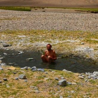 Bad in einer heißen Quelle