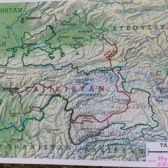Übersichtskarte Pamir