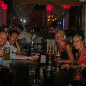 Edgars 40. Geburtstag mit Vera, Emma, Annette, Andy und Stefan