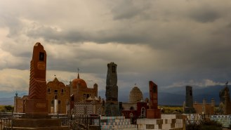 kirgisischer Friedhof beim Yssyk Kul