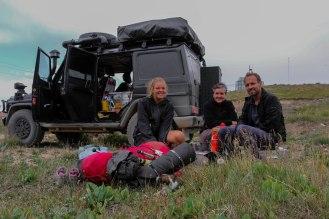 mit Mette am Torugart Pass 3700 m