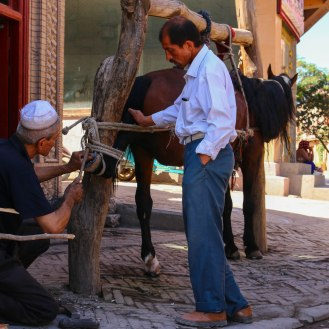 Hufschmied in Kashgar