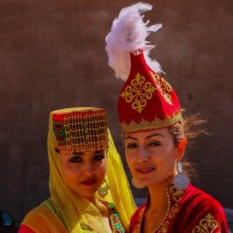 Chinesinnen in Kashgar