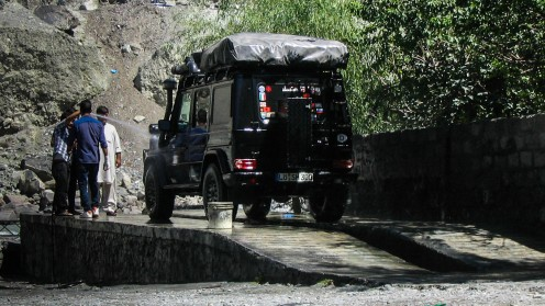 Autowaschanlage in Gilgit