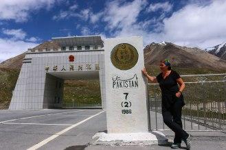 Pakistanische Grenze am Khunjerab Pass