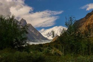 Passu Glacier and Passu Peak
