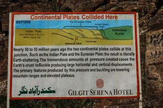 Treffpunkt der indischen und der eurasischen Kontinentalplatten