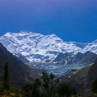 Rakaposhi 7.788 m mit Gletscher
