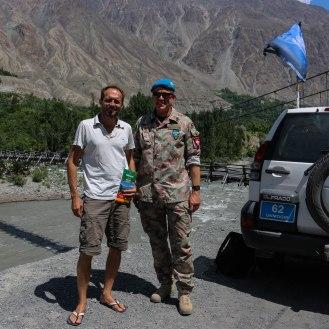 Offizier der schweizer Armee in Diensten der UNO Blauhelme