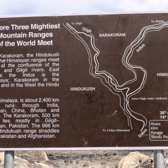 hier treffen sich Hindukush, Karakorum und Himalaya