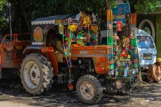 pakistani Truck Art - auch am Traktor