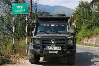 Ankunft im Dorf Haripur