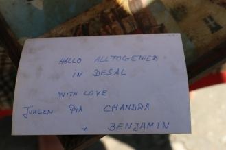 einige Zeit kam noch Post nach Indien