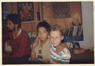 Bhopram, Subhash und Marcel (von links)