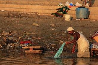 Wäsche waschen am Ganges