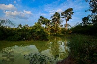 an unserem Lagerplatz am Fuße des Tempel Preah Vihear