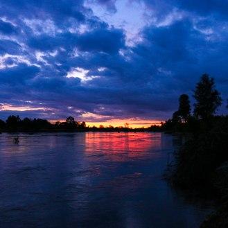Abendstimmung am Mekong