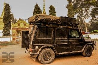 staubige Strassen in Myanmar