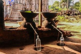 Herstellung von Palmschnaps
