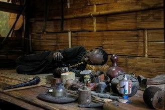 Opiumraucher im Museum
