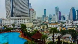 Blick aus dem Hotelfenster des Centre Point Silom in Bangkok