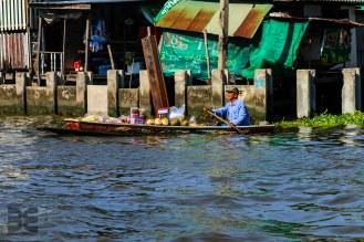 die Wasserstraßen in Bangkok