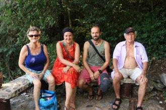 Verschnaufpause auf dem Weg zur Phraya Nakhon Cave