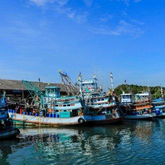 Fischfangflotte in Thailand