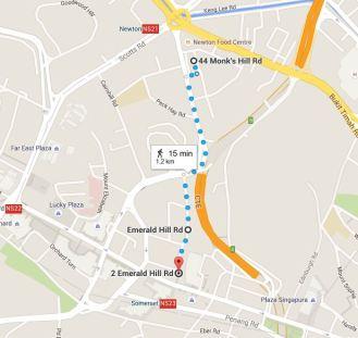 Fussweg Newton Circuit to Orchard Road