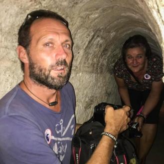 in einem Tunnel von Cu Chi