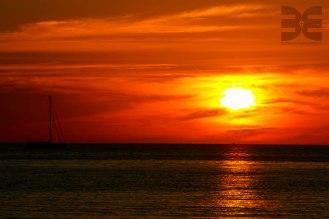 Sunset im Sirinat National Park