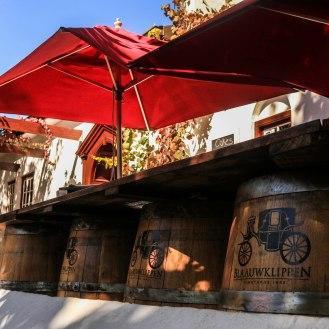 Weingut Blauuwklippen Stellenbosch Weinwanderung - im BIstro ist es deutlich ruhiger