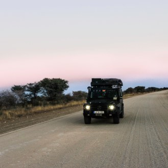 frühmorgens auf dem Weg nach Grootfontein
