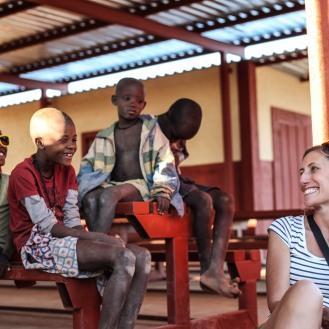 Angelis und kids der Omuhonga School
