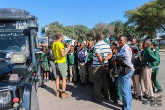 interessierte Schüler aus Botswana