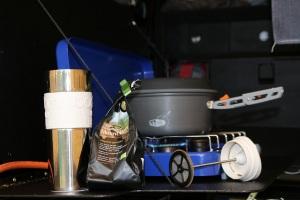 Rumba gaskocher und bodum kaffeepresse edelstahl